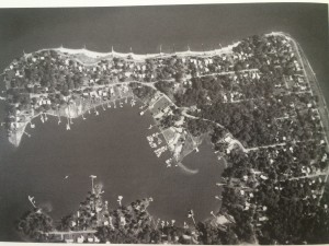 A view of Lake Ogleton shot from the air, 1982. Source: Bay Ridge on the Chesapeake, An Illustrated History.